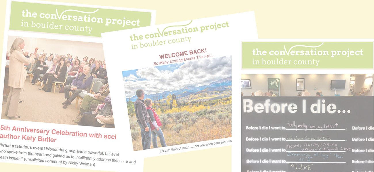 The Conversation Project in Boulder County
